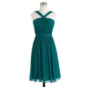 J. Crew | Sinclair Silk Chiffon Dress Teal